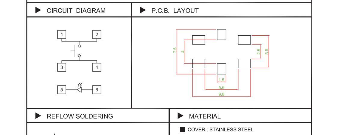 6x7.1X5.3 IP67  LED Tact Switch_C3009L SERIES