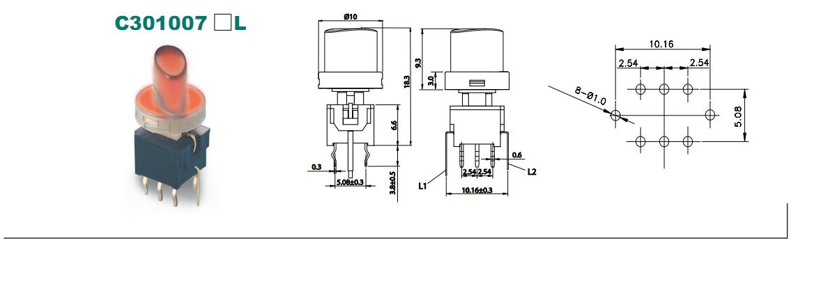 LED Tact Switch_C3010 SERIES