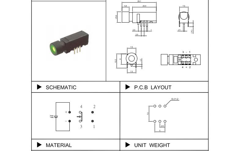 LED Push Button Switch_CS002A SERIES