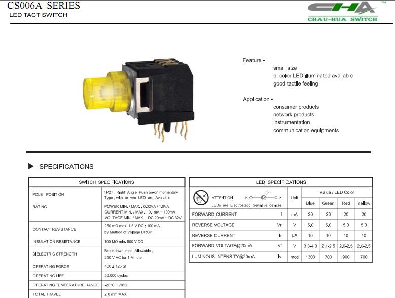 Push button switch__CS006A Series