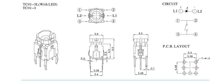 illuminated Tactile switch- TC01 Series