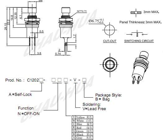 Push button switch__C1202A/B Series